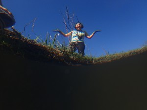 An underwater shot for a wetlands-eye-view.