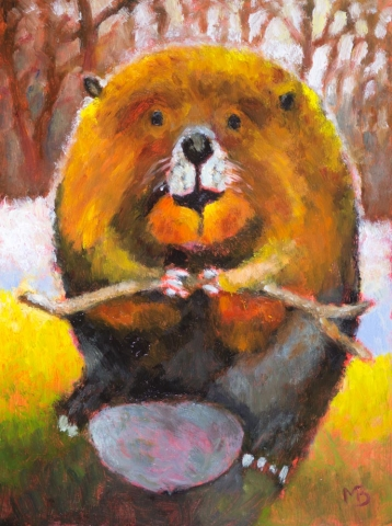 Leave It To Beaver, Mike Bergen, Oil, 13 x16, $350