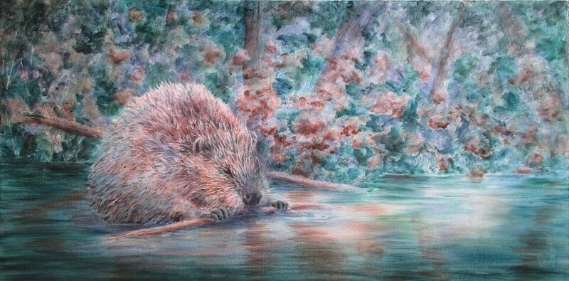 Beaver in Winter, Susan Curington
