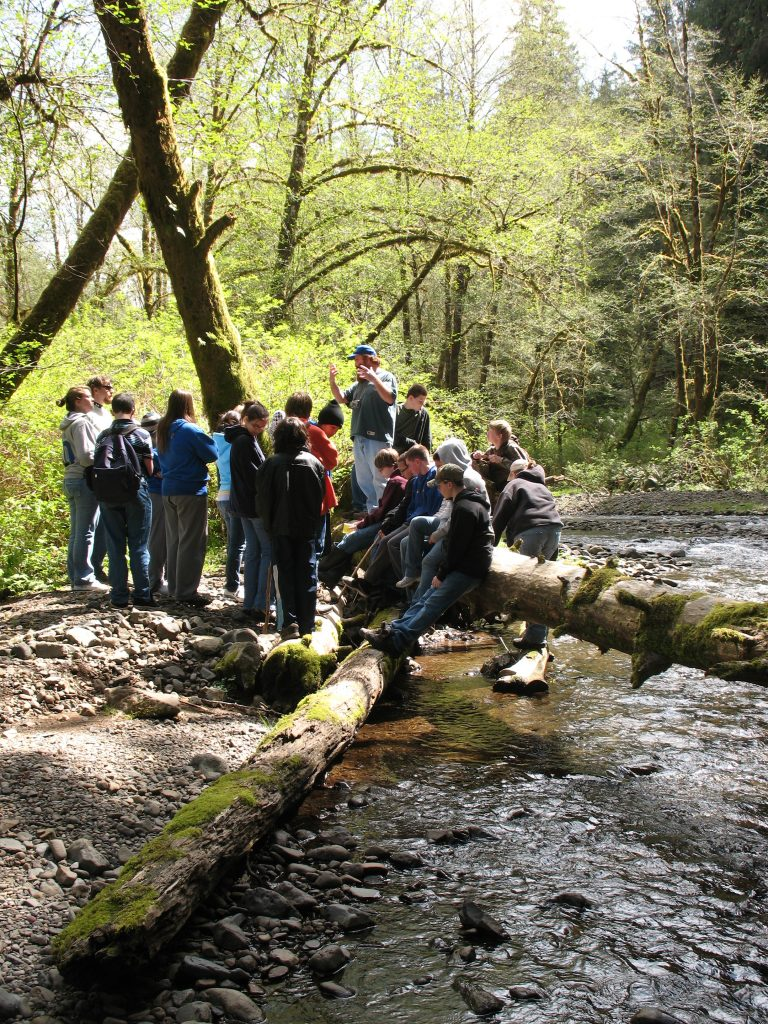 Kids learning about the Oregon Coast watersheds