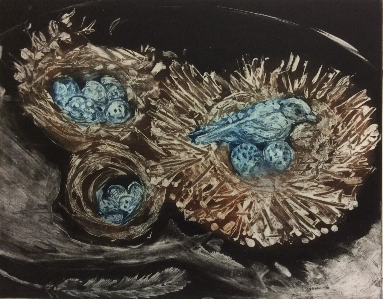 Hoberg-Nest Still Life-Etching