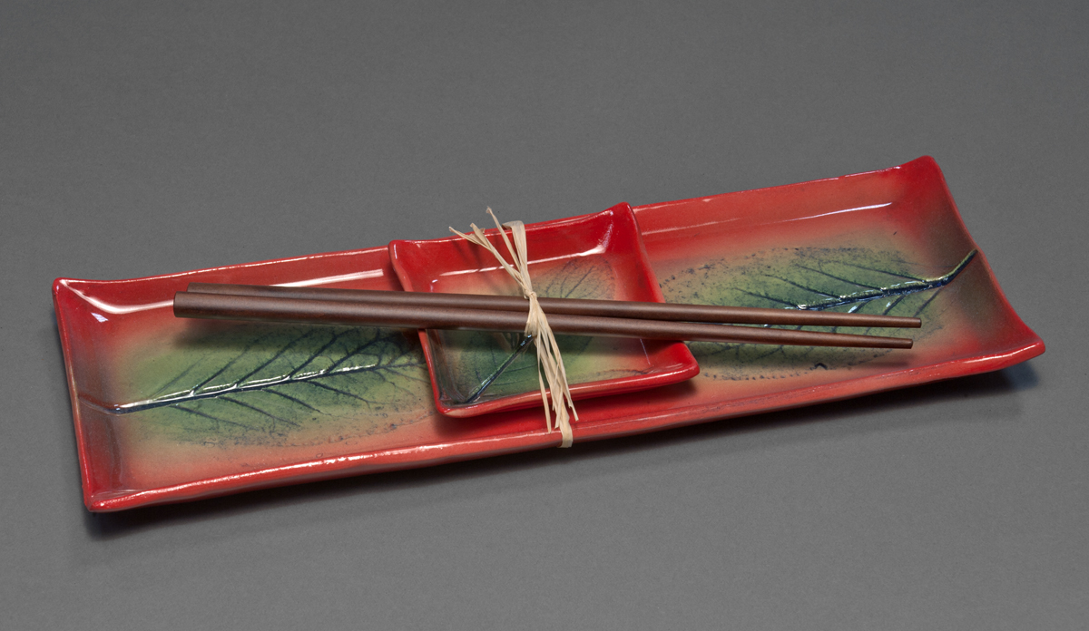 Steele- Long Plate Sushi Set-Porcelain