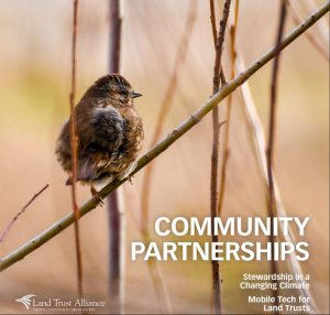 Cover of Community Patnerships section of magazine